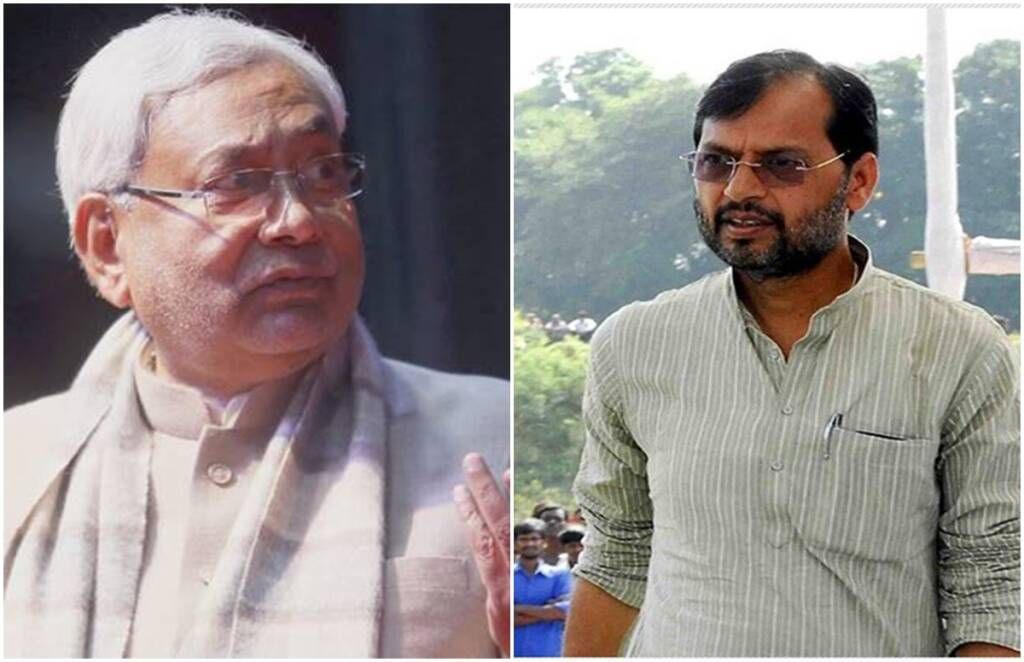 Nitish Kumar,Bihar politics,CM Nitish Kumar,madan sahni,Gyanendra singh gyanu,Madan Sahni Resign,Bihar Transfer Posting,BJP Minister Involves in Transfer Posting,MLA Gyanendra Singh Gyanu,Madan Sahni Announced Resign, jansatta