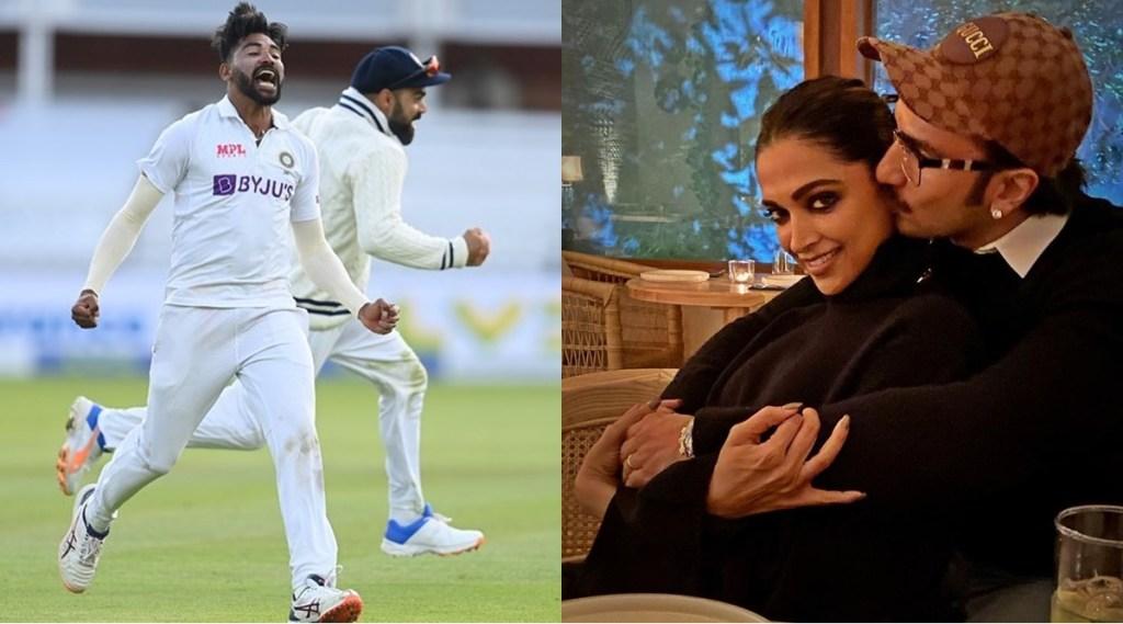 Actress Deepika Padukone Ranveer Singh Mohammed Siraj India vs England