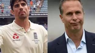 Alastair Cook Michael Vaughan India vs England Test series1