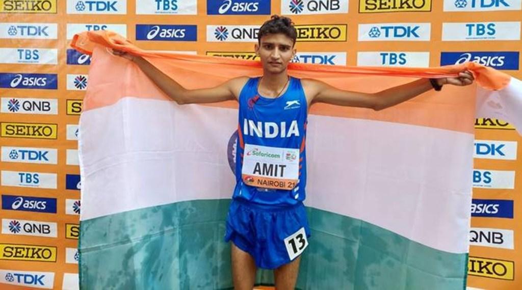 Amit Khatri won silver medal 10000 meter race walk TWITTER AFIINDIA