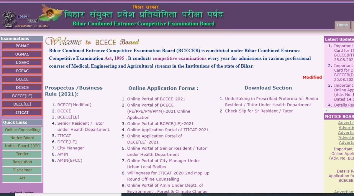 BCECEB DECE LE Admit Card 2021 released at official website, know here How to download