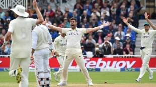 Englands James Anderson appeals unsuccessfully for wicket of Indias KL Rahul