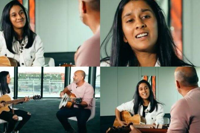 indian-women-cricketer-jemimah-rodrigues-plays-guitar-with-mark-butcher-and-sings-aamir-khan-dil-chahta-film-song