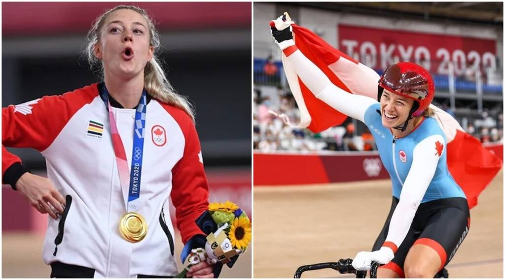 Olympic Gold Medallist, Kelsey Mitchell, Canadian cyclist, prank, instagram, jansatta