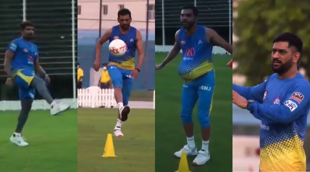 Mahendra Singh Dhoni MS Dhoni Deepak Chahar Karn Sharma IPL 2021 CSK Chennai SuperKings