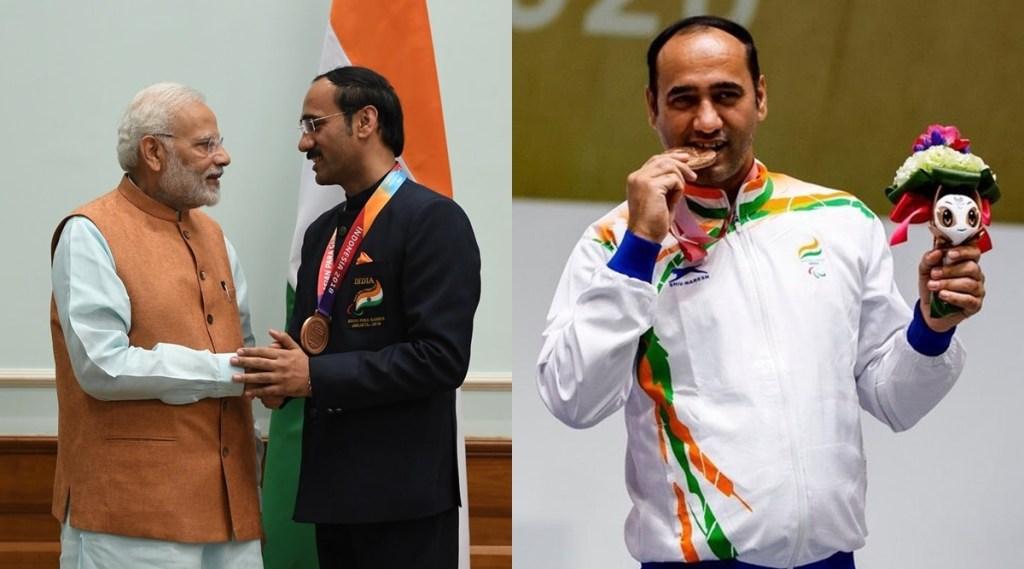 Narendra Modi Singhraj Adhana Tokyo Paralympics Bronze Medal Team India