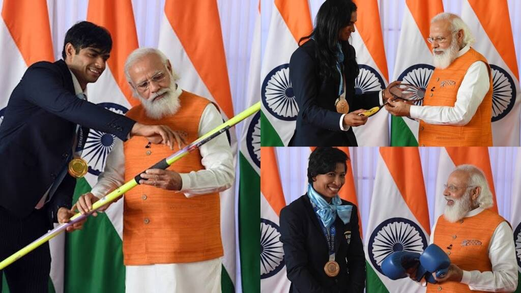 pm-modi-asked-neeraj-chopra-pv-sindhu-and-lovleena-to-auction-their-used-equipments-of-tokyo-olympics
