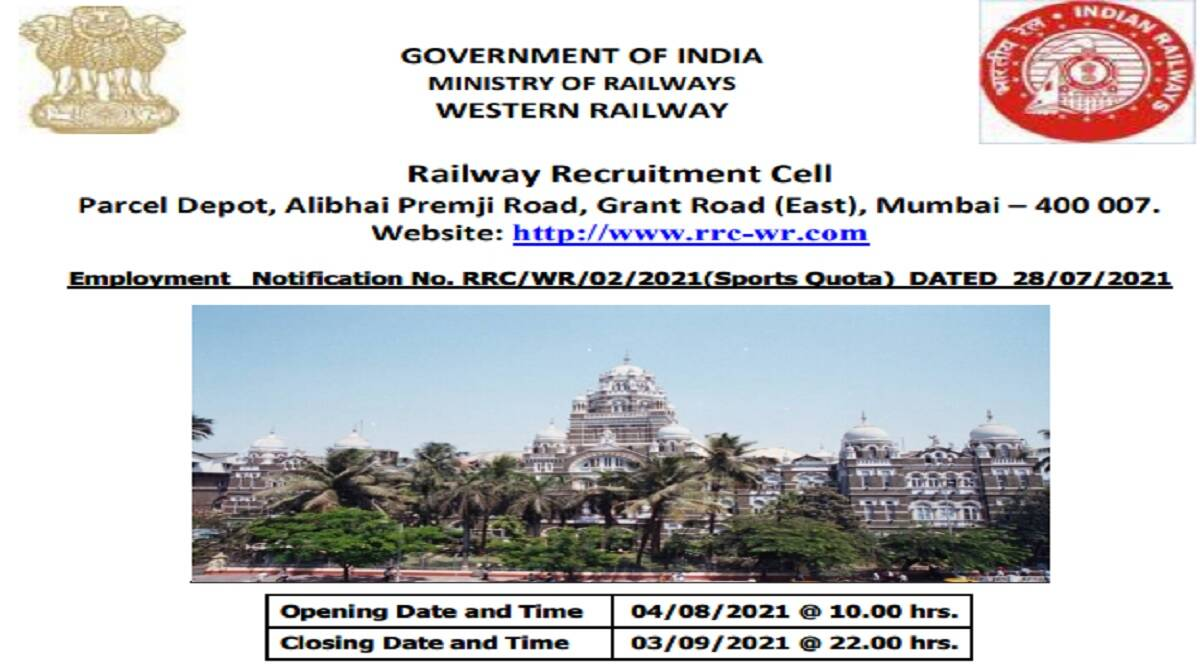 Railway Recruitment 2021: apply online for group c post at rrc-wr.com