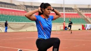 Shaili Singh current U20 national record holder in long jump