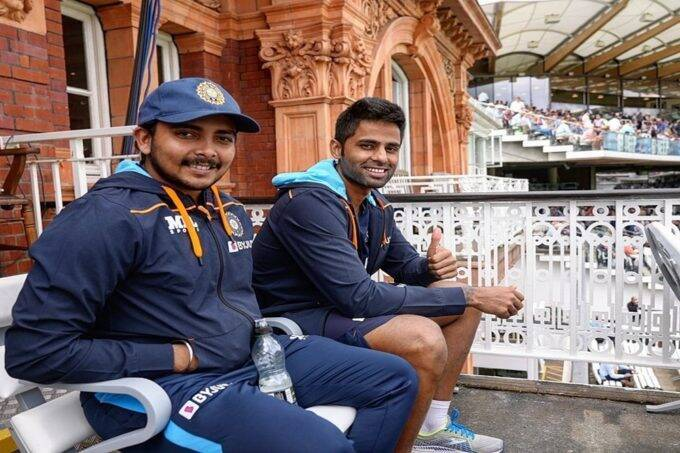 ind-vs-eng-prithvi-shaw-and-suryakumar-yadav-joined-team-india-at-lords-after-completing-quarantine-period