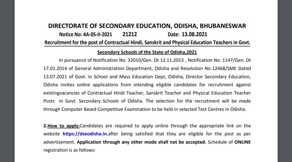 Sarkari Naukri 2021: Application to begin soon for 4619 contractual teacher posts.  Check here for eligibility criteria and other details