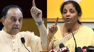 BJP MP Subramanian Swamy, Nirmala Sitharaman