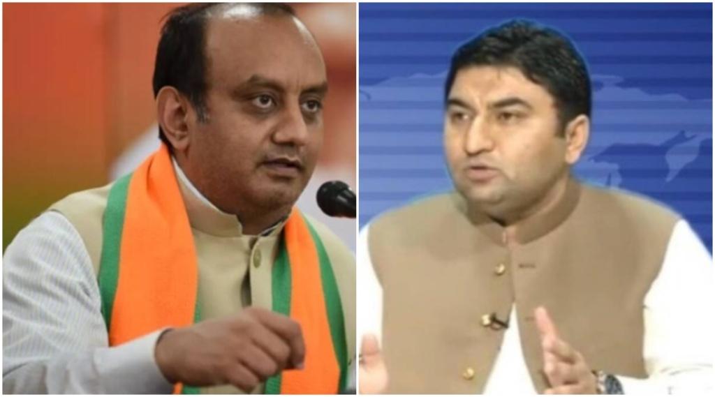 sudhanshu trivedi, qamar cheema, aaj tak debate show