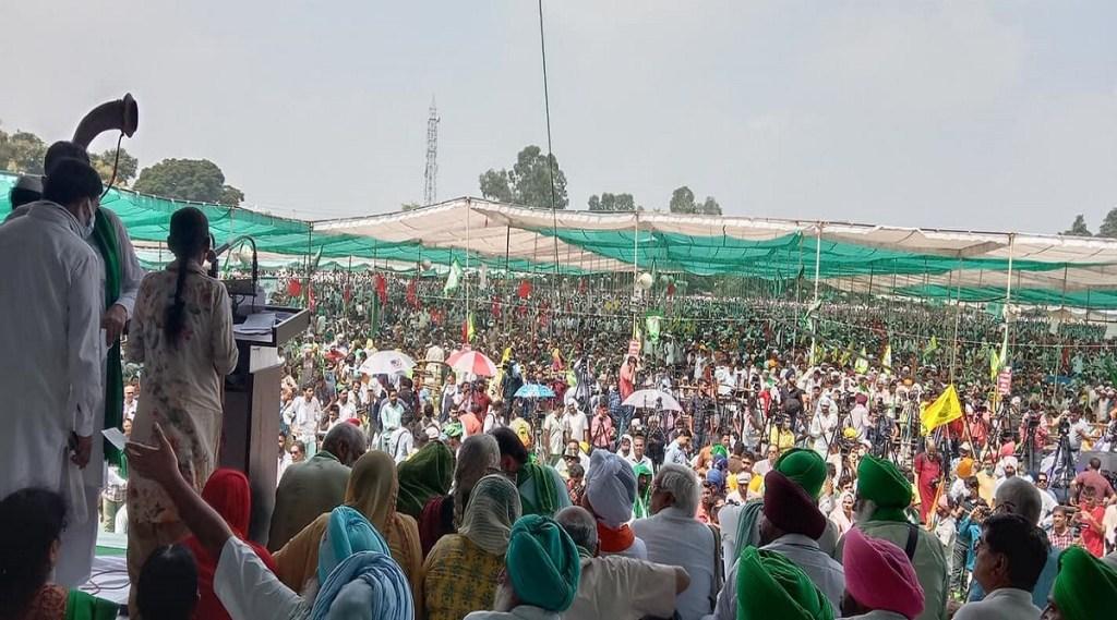 Muzaffarnagar, Maha Panchayat, Uttar Pradesh, Farmer protest, yogendra yadav, BKU, naresh Tikait, rakesh tikait, RLD, jansatta