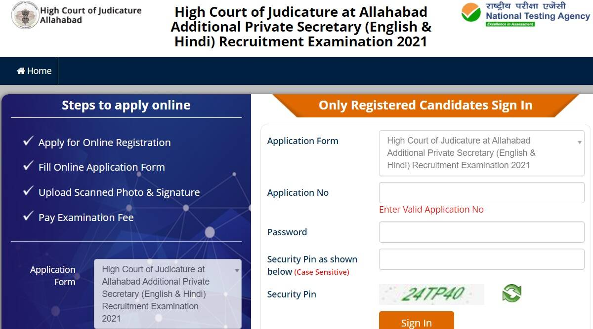 Sarkari Naukri 2021: Apply online for Additional Private Secretary at recruitment.nta.nic.in before 5 October.  Check here for eligibility criteria and other details