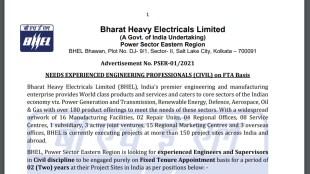 BHEL Engineer Recruitment Application Date, BHEL Engineer Recruitment Vacancy, BHEL Supervisor Recruitment Vacancy BHEL Engineer Recruitment Salary