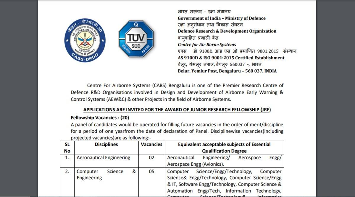 Jobs in DRDO, these candidates can apply, salary Rs 31,000 per month