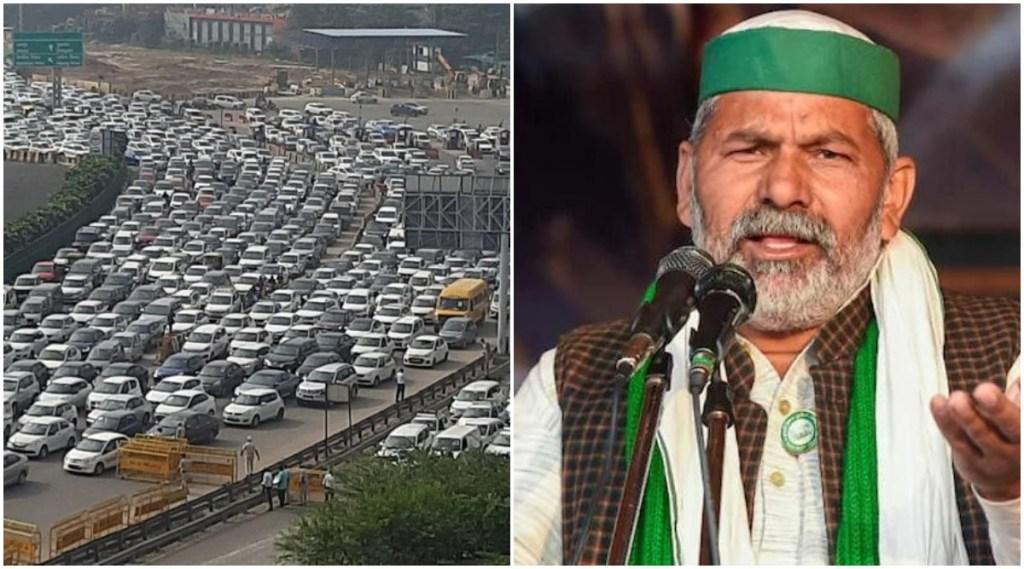 Delhi Border Jaam Rakesh Tikait