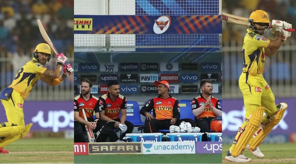 Faf du Plessis Chennai Super Kings Kane Williamson David Warner Sunrisers Hyderabad Ruturaj Gaikwad IPL Points Table Orange Cap Purple Cap IPL 2021
