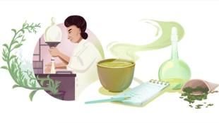 Michiyo Tsujimura, google doodle, google doodle today, green tea, green tea research, Michiyo Tsujimura research, Michiyo Tsujimura google doodle, japan scientist