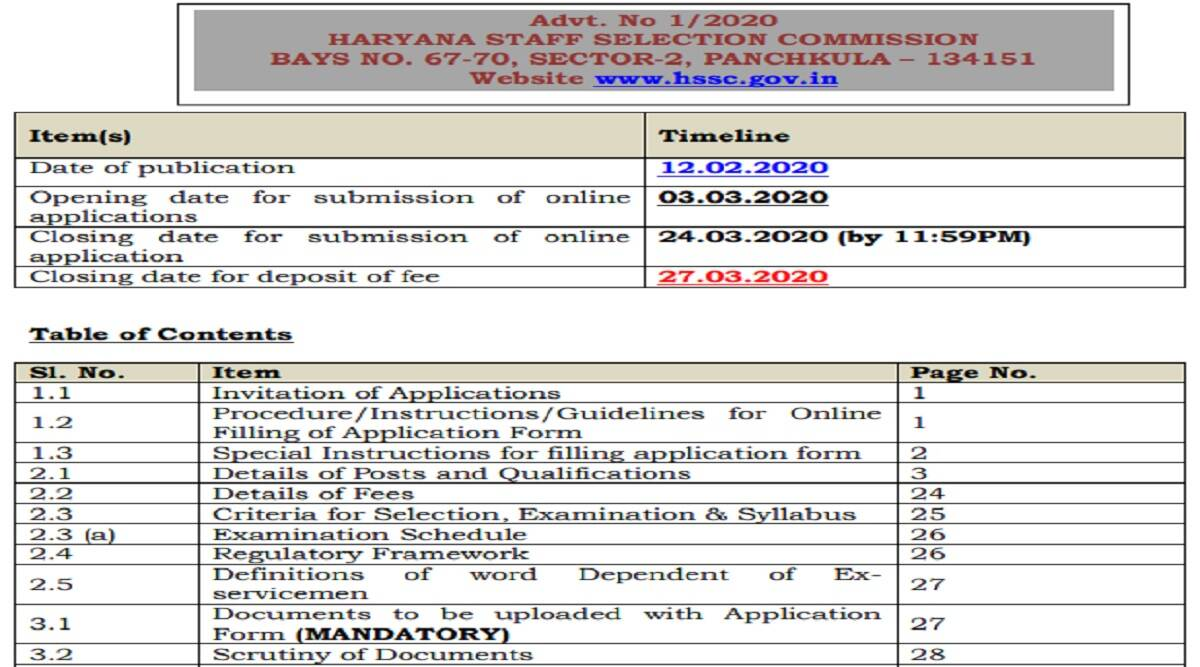 HSSC Recruitment 2021: apply online for Election Naib Tehsildar, Election Kanungo and other post at hssc.gov.in