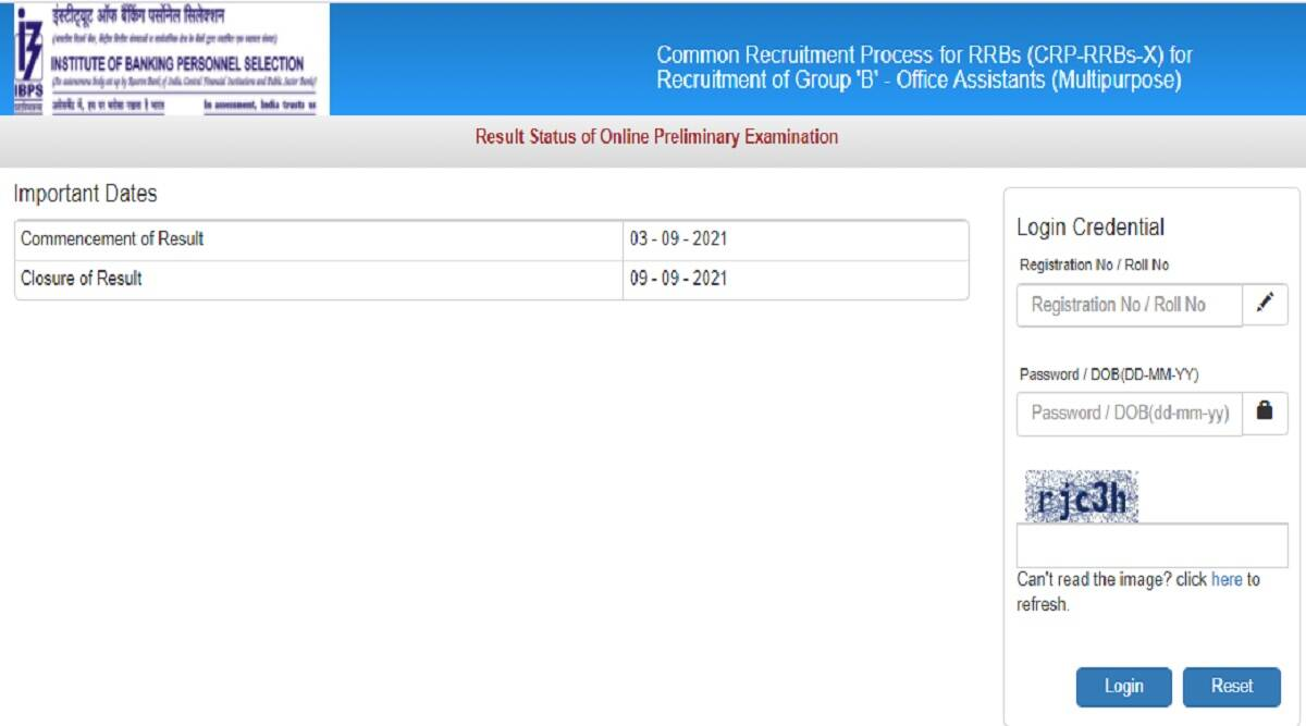 IBPS RRB Clerk result 2021: IBPS RRB Clerk prelims result 2021 declared at ibps.in