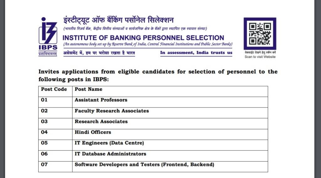 IBPS, IBPS Recruitment, IBPS New Notification, IBPS Faculty Recruitment 2021