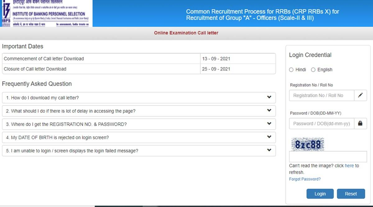 IBPS RRB Admit Card 2021 released for Officer Scale-II, Scale III, here is the direct link to download
