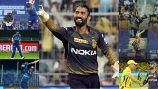 ipl-2021-mi-vs-kkr-match-ended-with-series-of-records-by-rohit-sharma-dinesh-karthik-jasprit-bumrah-venkatesh-iyer-rahul-tripathi-performs