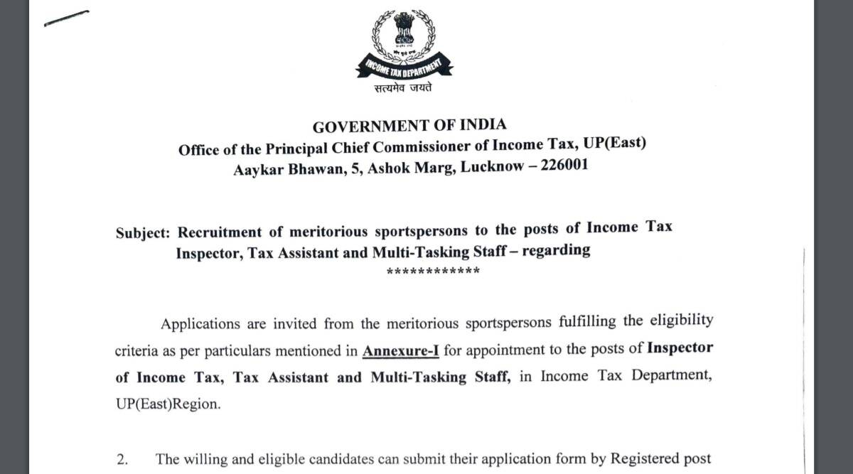 Income Tax Department Recruitment 2021: Apply for Income Tax Inspector, Tax Assistant and Multi Tasking Staff Posts before 30 September.  Check here for details