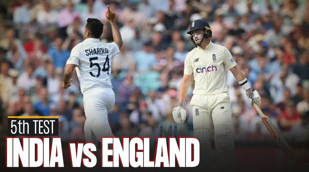 5th Test ENG vs IND Dream11 Team