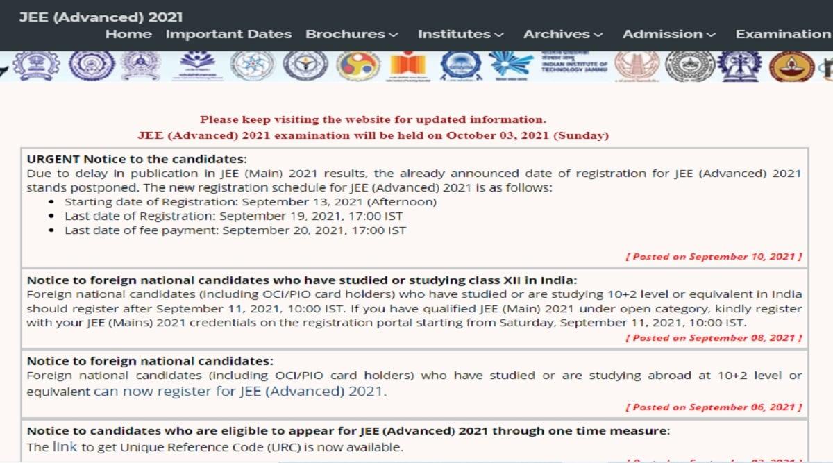 JEE Main Result 2021 Postponed: IIT-JEE Advanced 2021 registration postponed due to JEE Main result