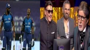 kbc-13-mumbai-indians-allrounder-kieron-pollard-let-athiya-shetty-father-suneil-shetty-and-tiger-shroff-father-jacky-shroff-win-prize-money-in-big-b-amitabh-bachchan-show-on-hot-seat