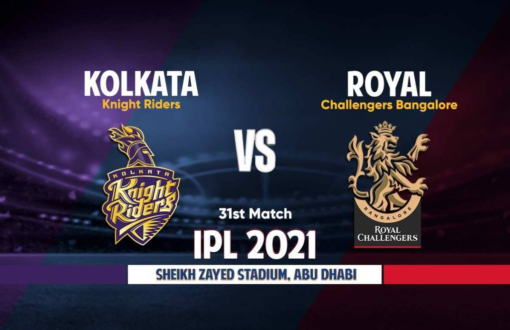 IPL 2021 KKR vs RCB Live Streaming Details