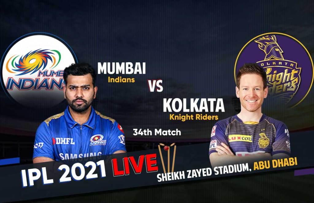 MI vs KKR IPL Match live Updates, Live Score