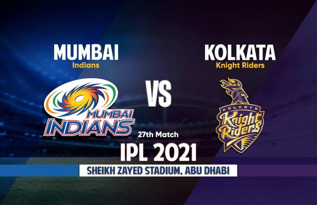 IPL 2021 MI Vs KKR Live Streaming Details