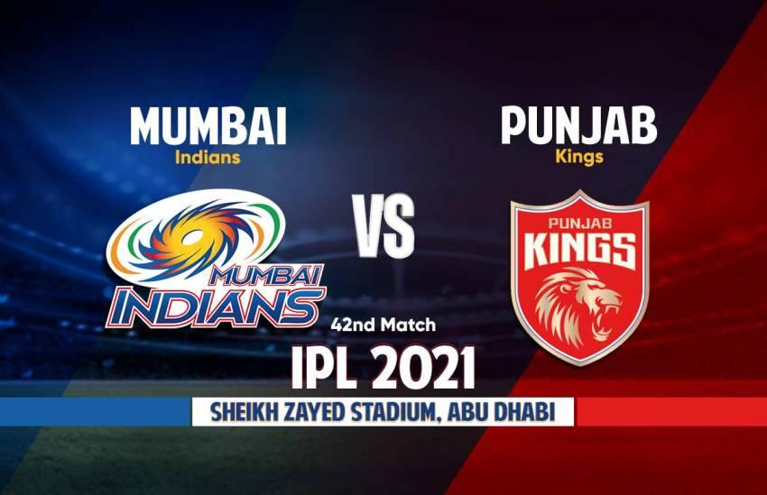 Mumbai Indians vs Punjab Kings Live Streaming IPL 2021