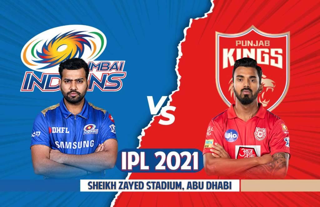 PBKS Playing 11   MI Playing 11 IPL 2021 Match 42