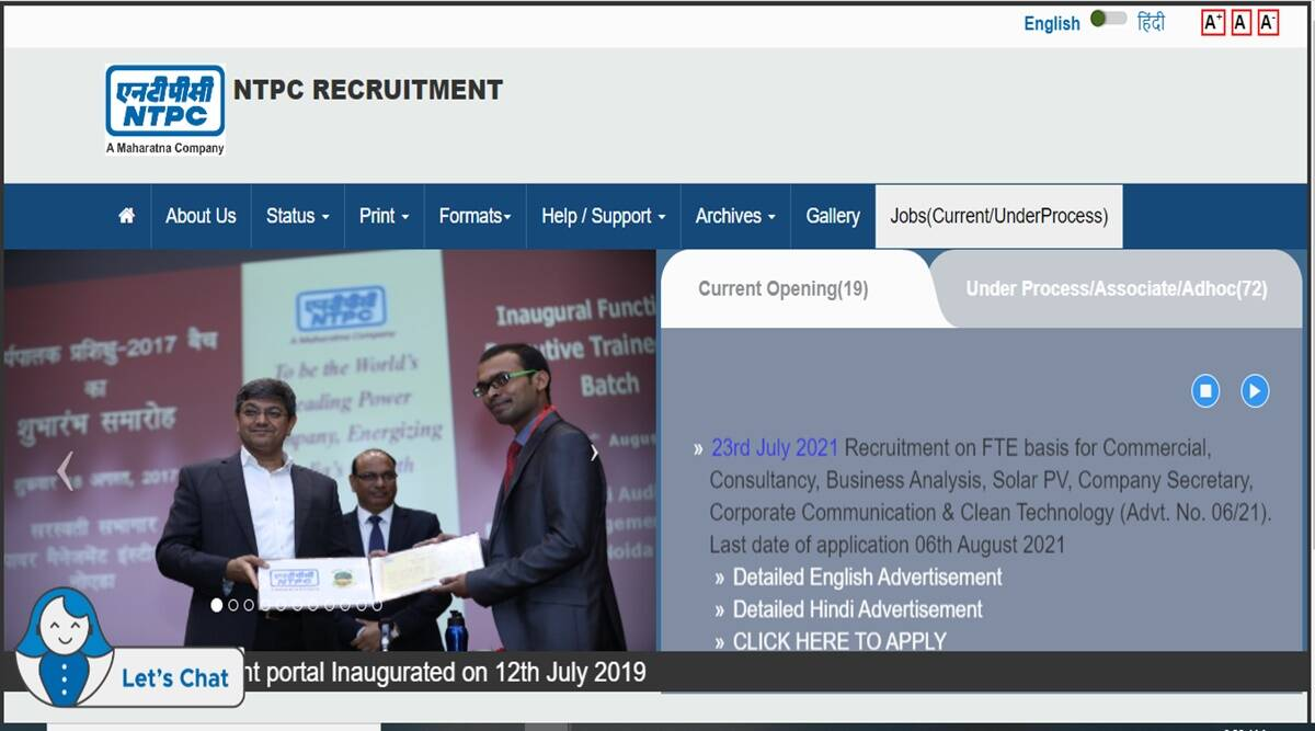 NTPC Recruitment 2021 Jobs for this post in NTPC candidates up to 56 years can apply, check full notification here