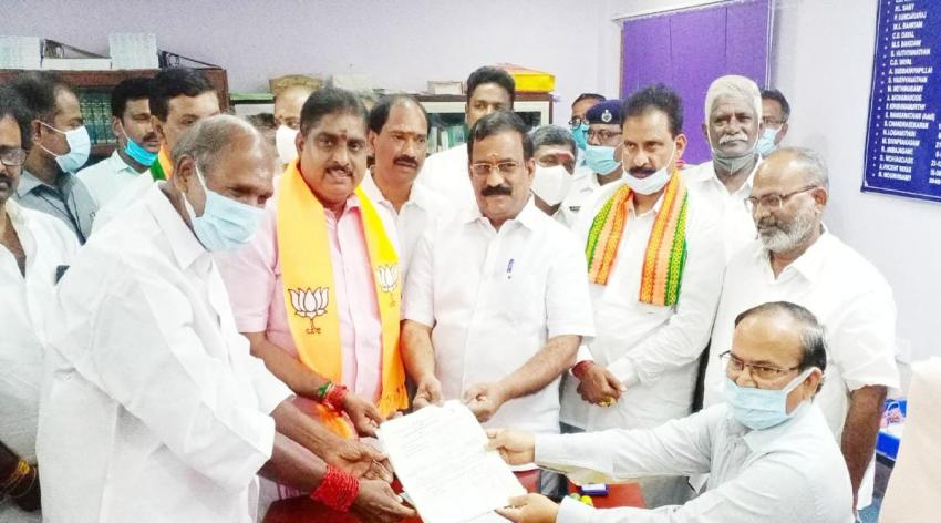Puducherry: BJP, Rajya Sabha, BJP First MP, All Nominations canceled, Last day ofNomination