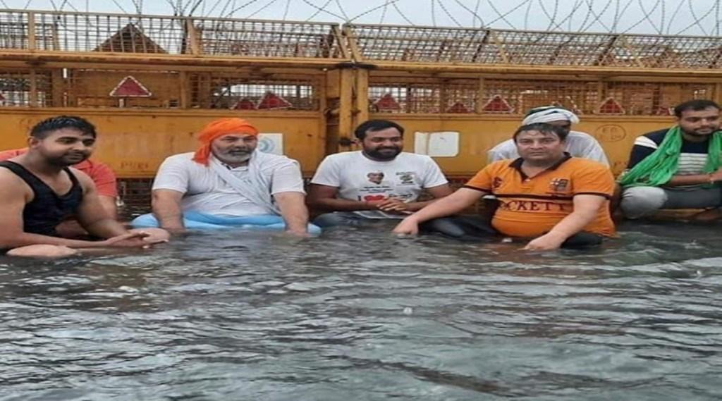 rain, delhi, rakesh tikait, farmer, bku