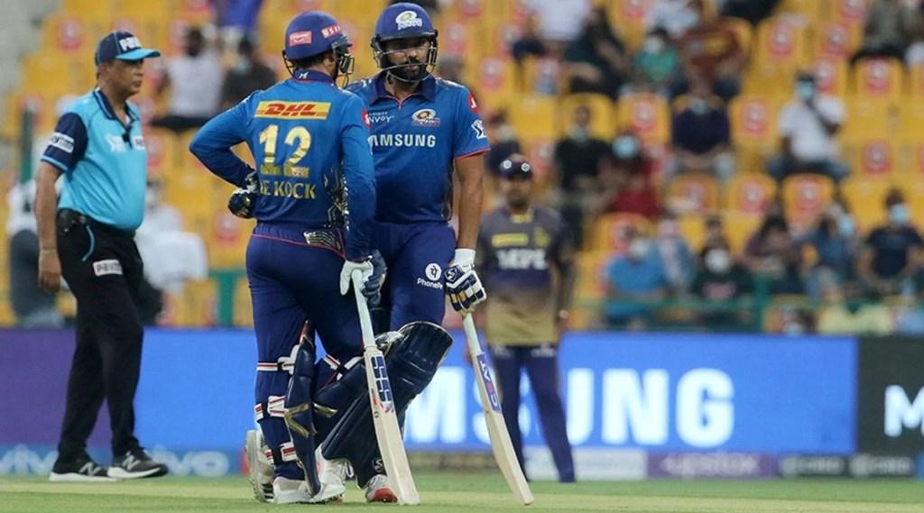 Rohit Sharma captain of Mumbai Indians and Quinton de Kock of Mumbai Indians IPL 2021