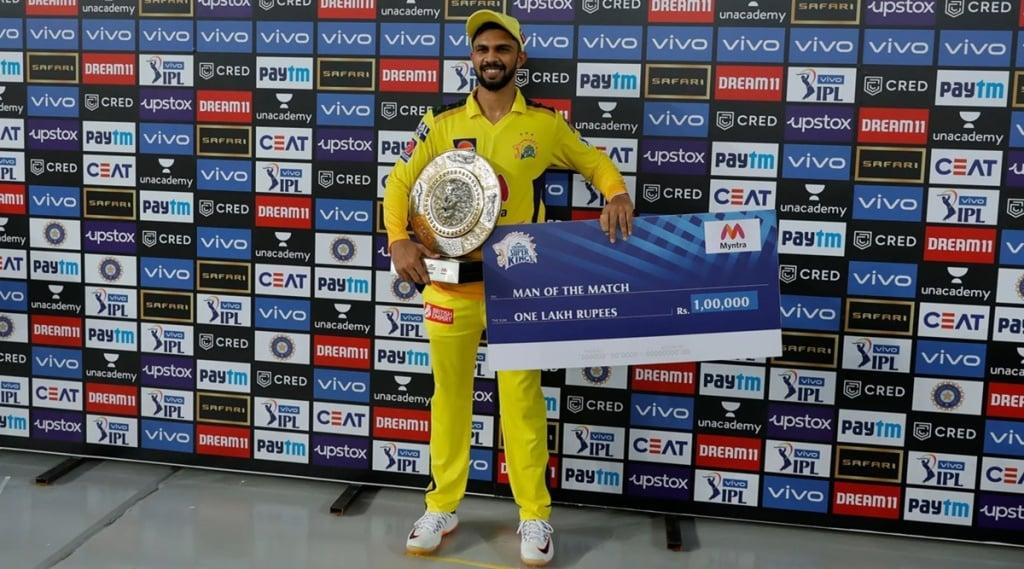 Ruturaj Gaikwad of Chennai Super Kings Man of The Match Indian Premier League