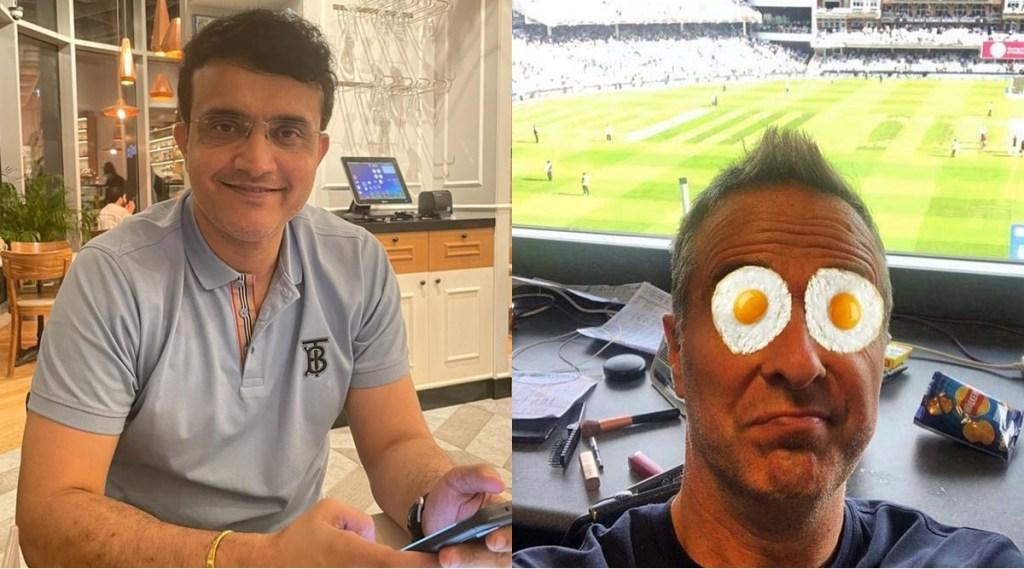 SOURAV GANGULY Michael vaughan India vs England Team India