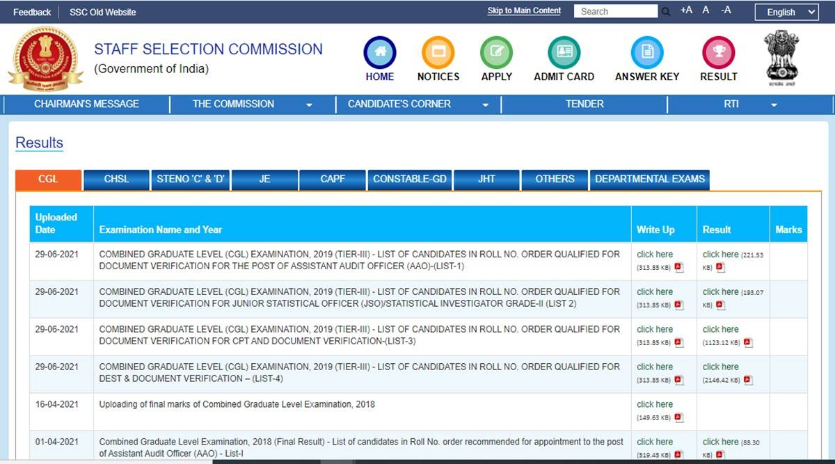 SSC Result 2021: SSC CHSL, SI Delhi Police, CAPFs exam result, know here date and how to check