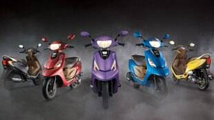 TVS Scooty Zest with down payment