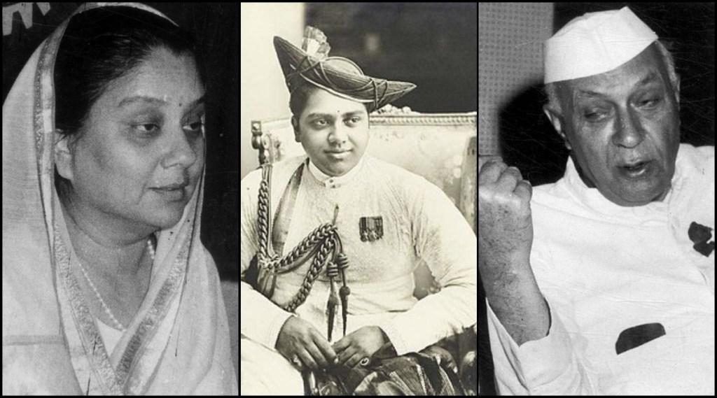 Vijaya Raje Scindia, Jiwajirao Scindia, JawaharLal Nehru