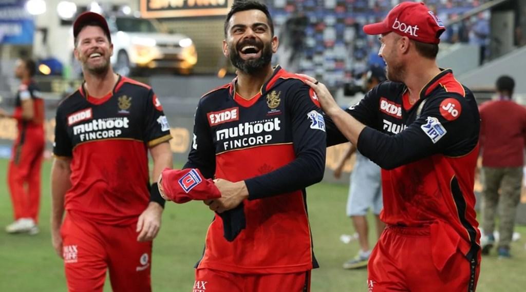 Virat Kohli AB de Villiers celebrate Royal Challengers Bangalore vs MUMBAI INDIANS IPL 2021