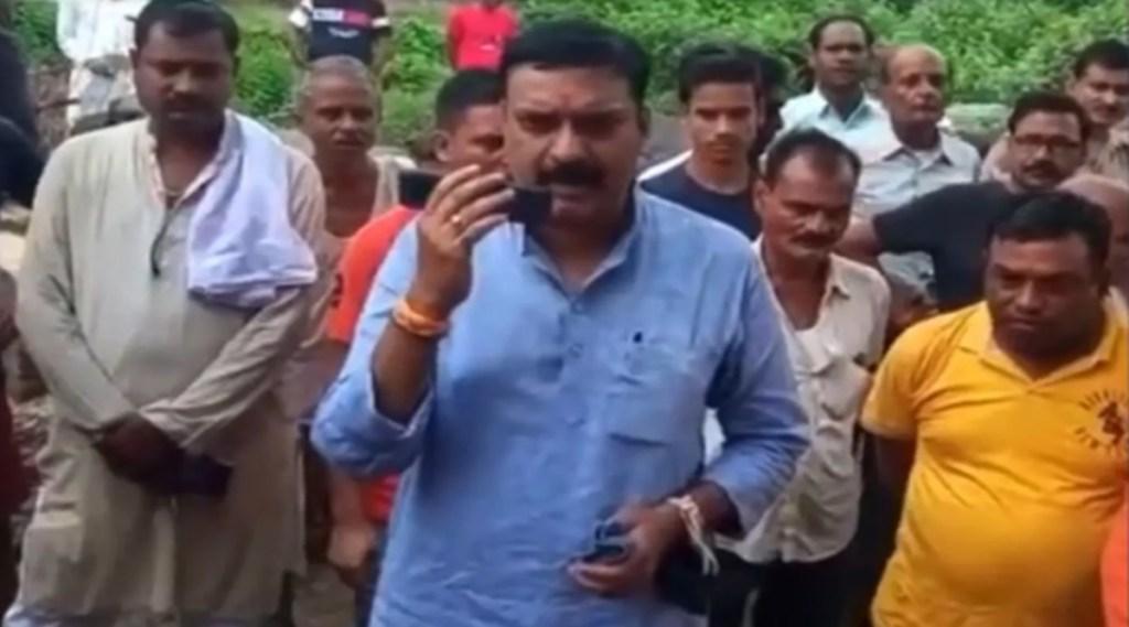 bjp mla shashank trivedi, surya pratap singh, bjp mla viral video