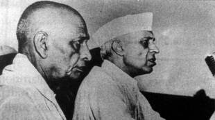 Vallabhbhai Patel and Pandit Jawaharlal Nehru. *** Local Caption *** Vallabhbhai Patel and Pandit Jawaharlal Nehru. Express archive photo